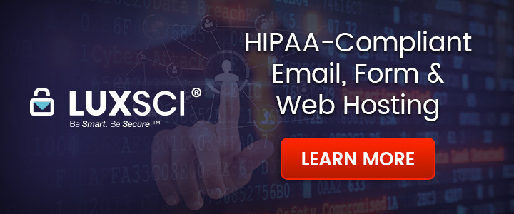 LuxSci HIPAA Secure Hosting & Email