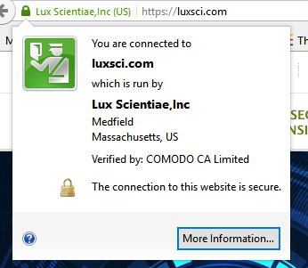 LuxSci FYIWhat is your browser telling you about SSL/TLS